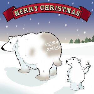 CAN8 – Cheeky Polar Bear Funny Xmas Card